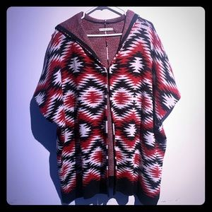 Alice and Olivia Poncho with Hood